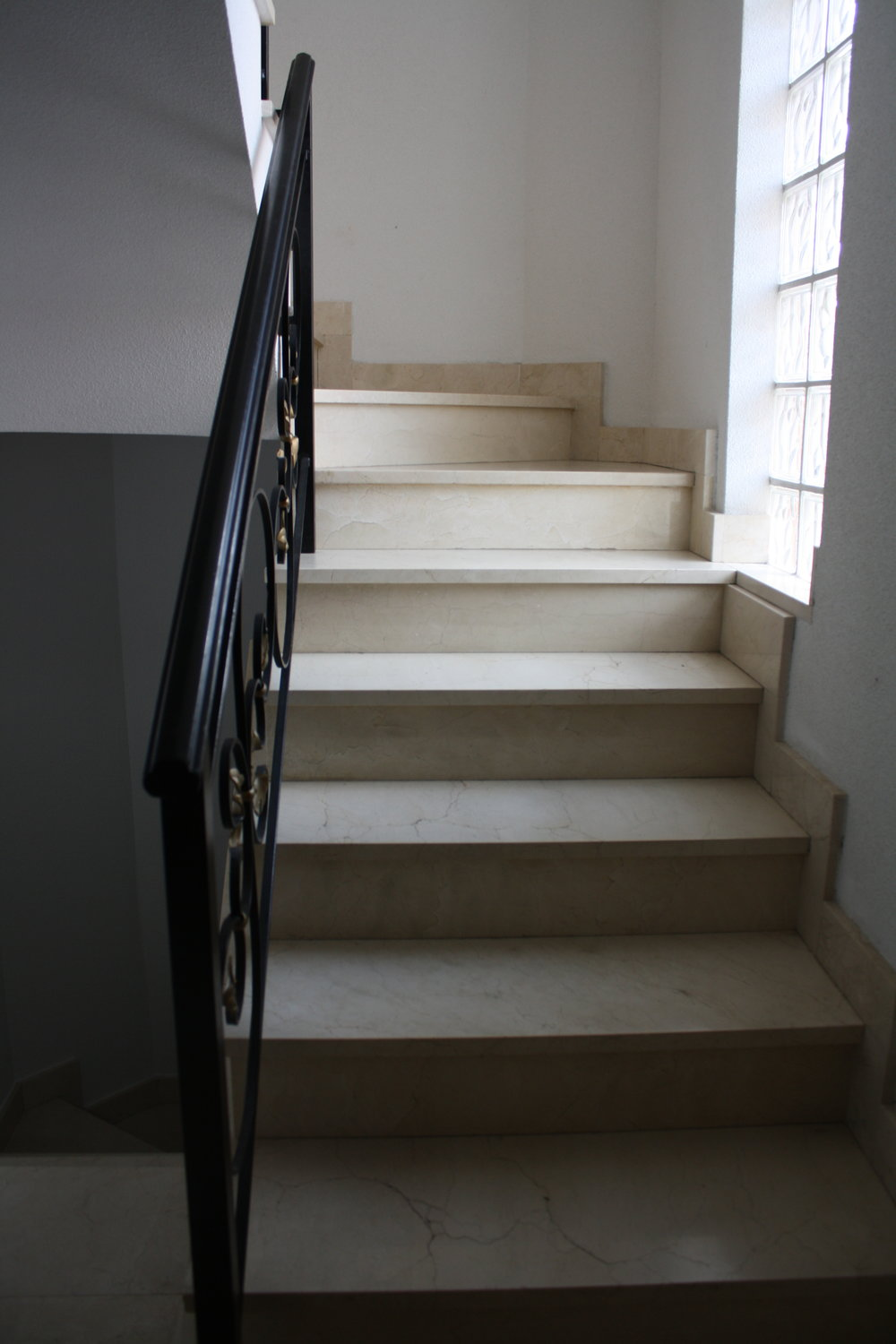 I'd show you a picture of my room but it's décor and vibe and not entirely my aesthetic… so, instead, here are the stairs I ascend to get there.