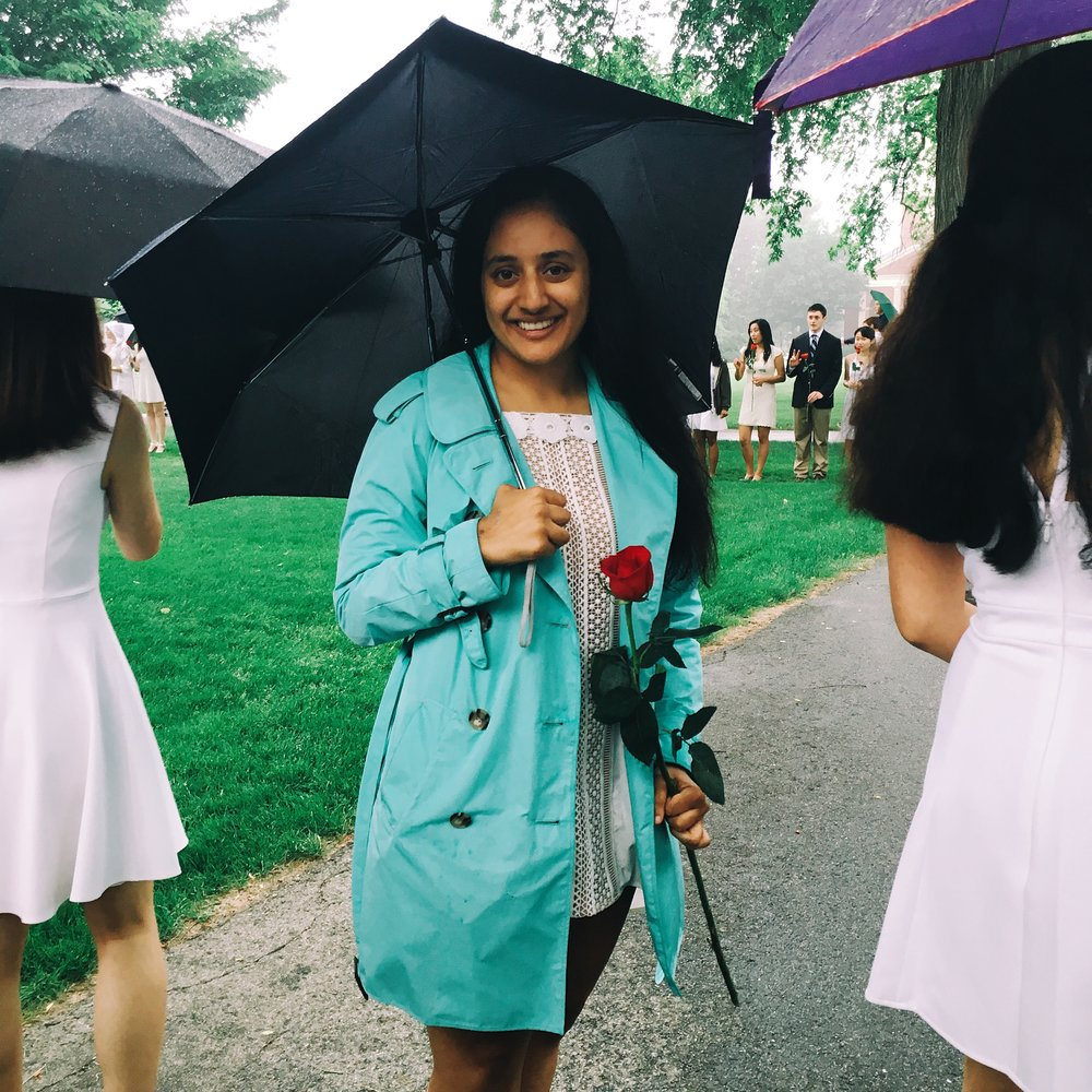 This is me on the very rainy Sunday in June when I graduated from highs school!